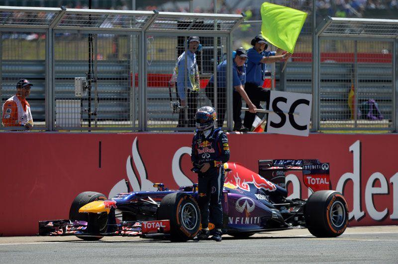 Abandono de Vettel en Silverstone