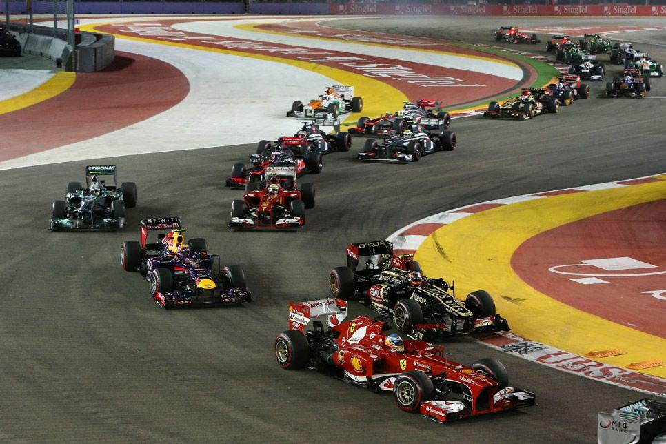 Salida Gran Premio de Singapur