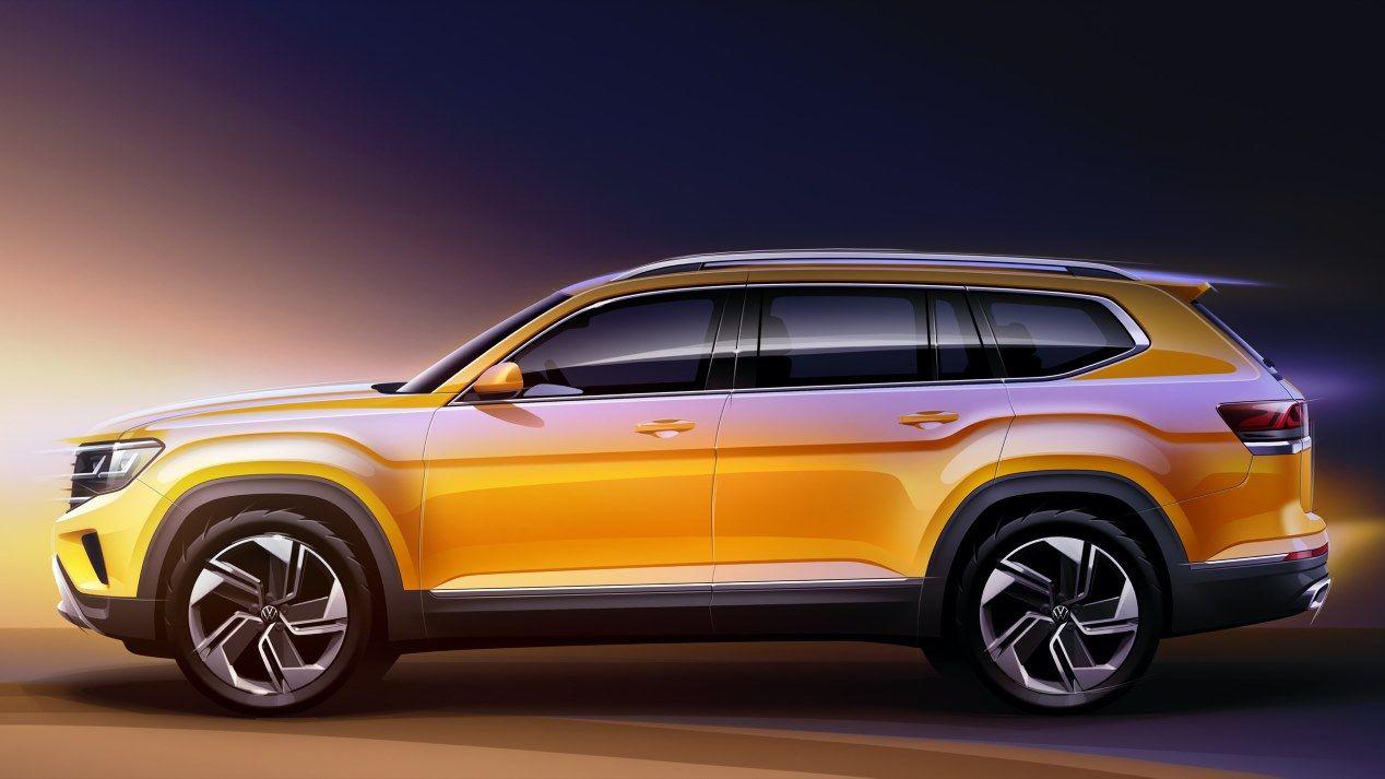 VW Atlas 2021: primeros bocetos del nuevo SUV de Volkswagen
