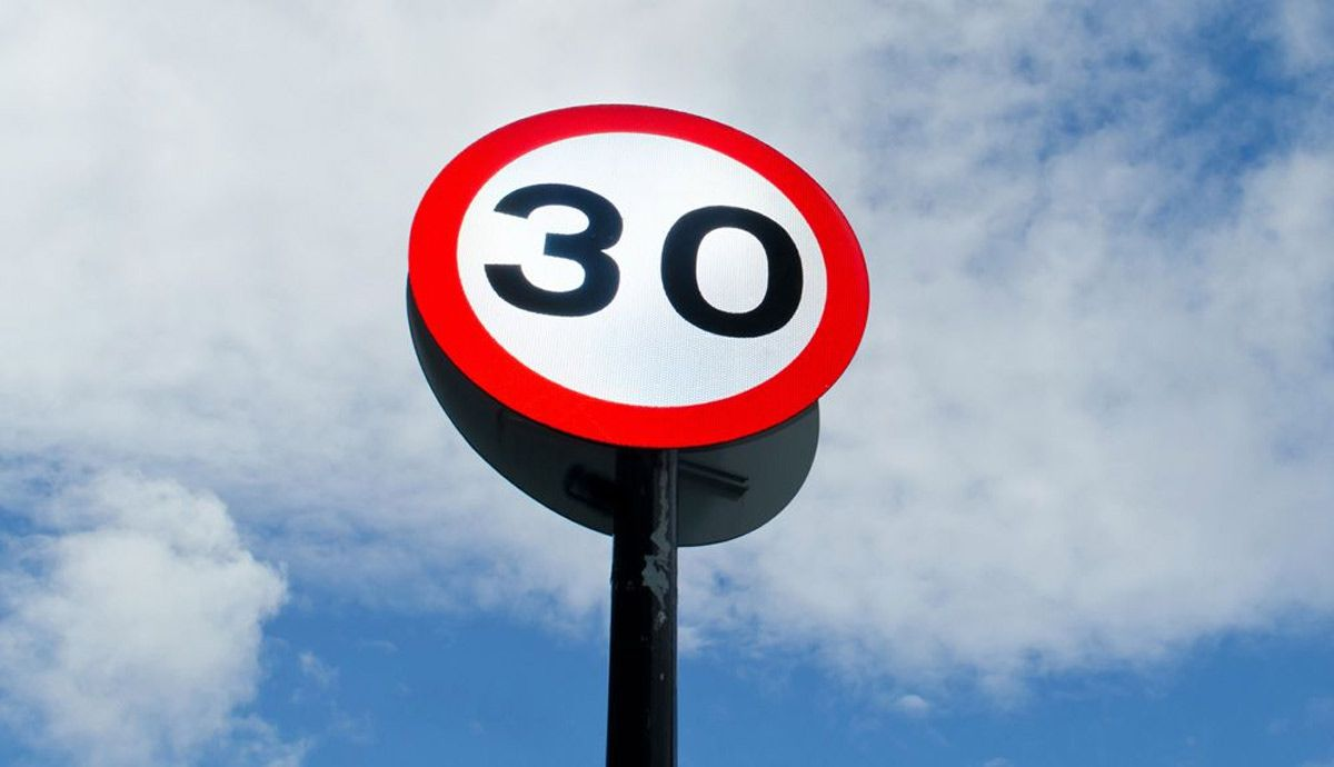 New limit 30 km / h in the city.