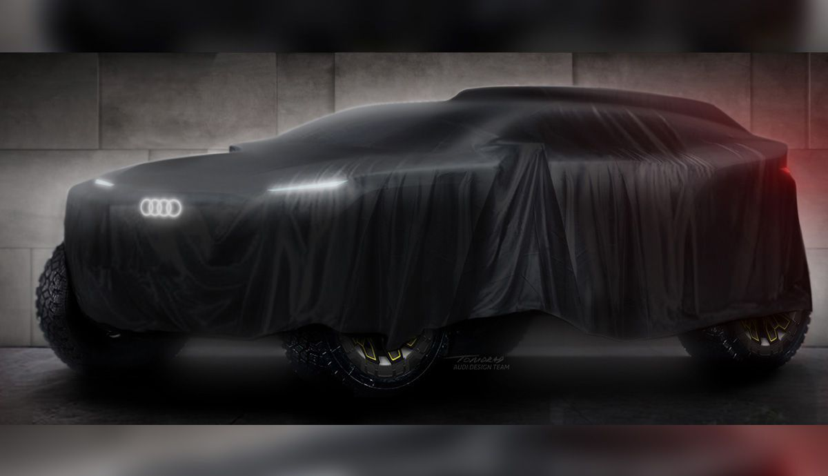 Audi will not reveal the images of its 4x4 for the Dakar until this summer.