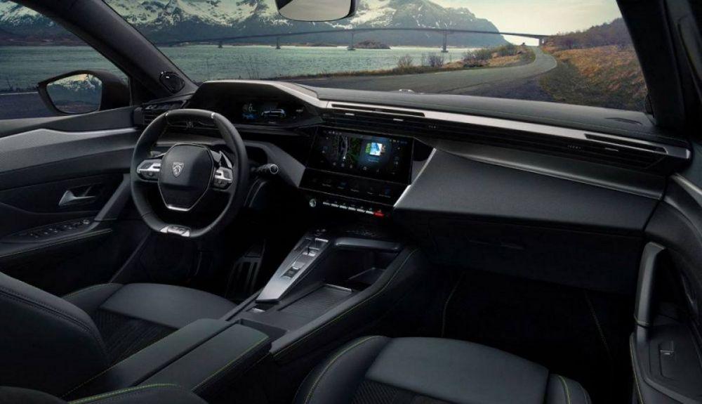 Interior of the Peugeot 308 2021 5-door