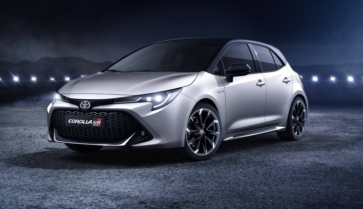 In the picture, the Toyota Corolla GR Sport Electric Hybrid