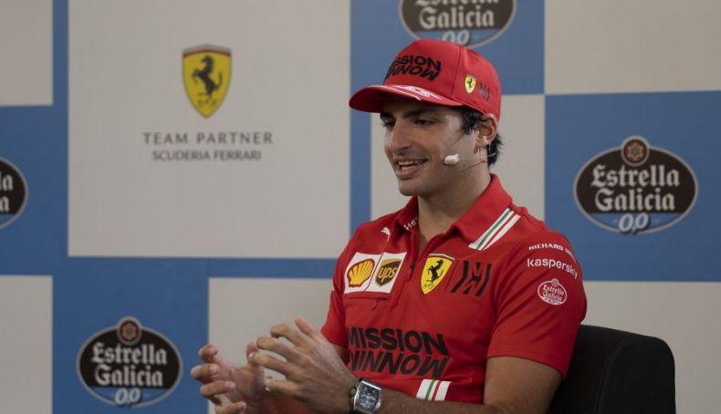 Carlos Sainz during Estrella Galicia's press conference prior to the F1 Spanish GP