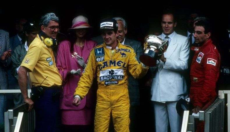 Senna's first victory in Monaco was in 1987