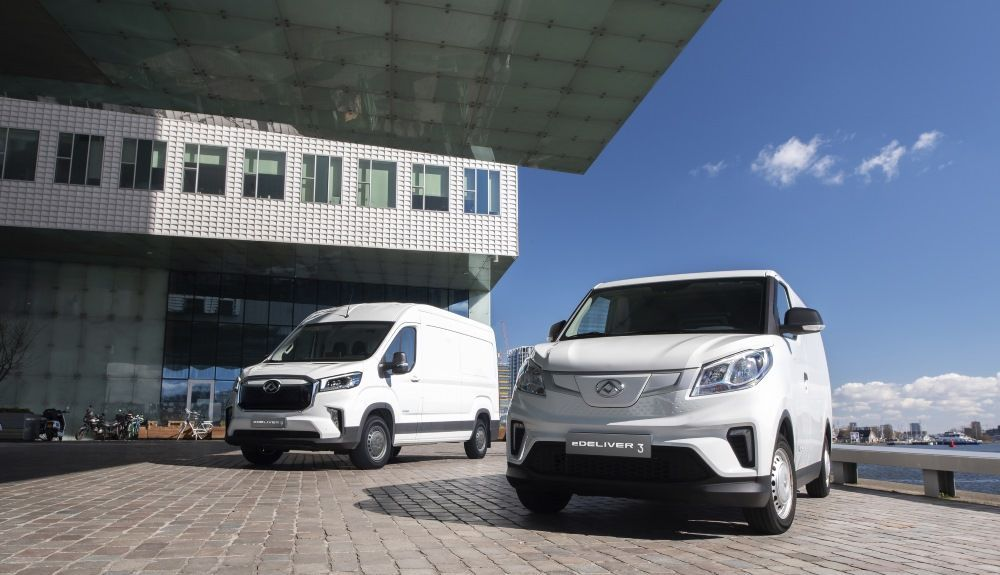 New Maxus eDeliver3 and eDeliver9 vans