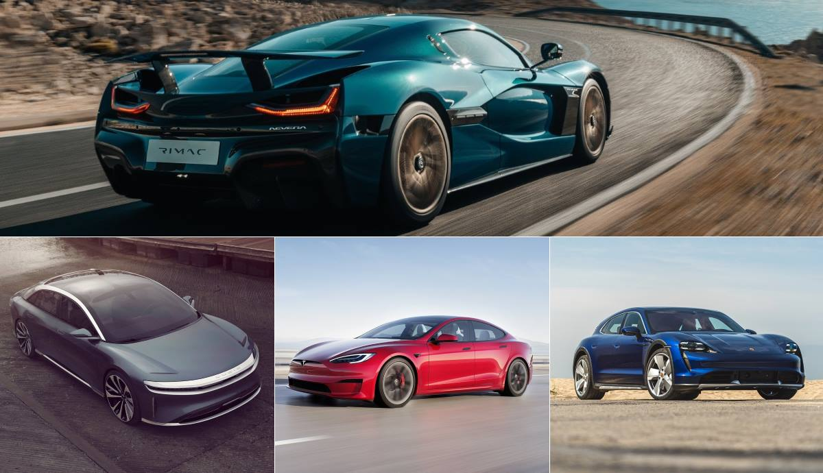 The fastest electric cars of the moment