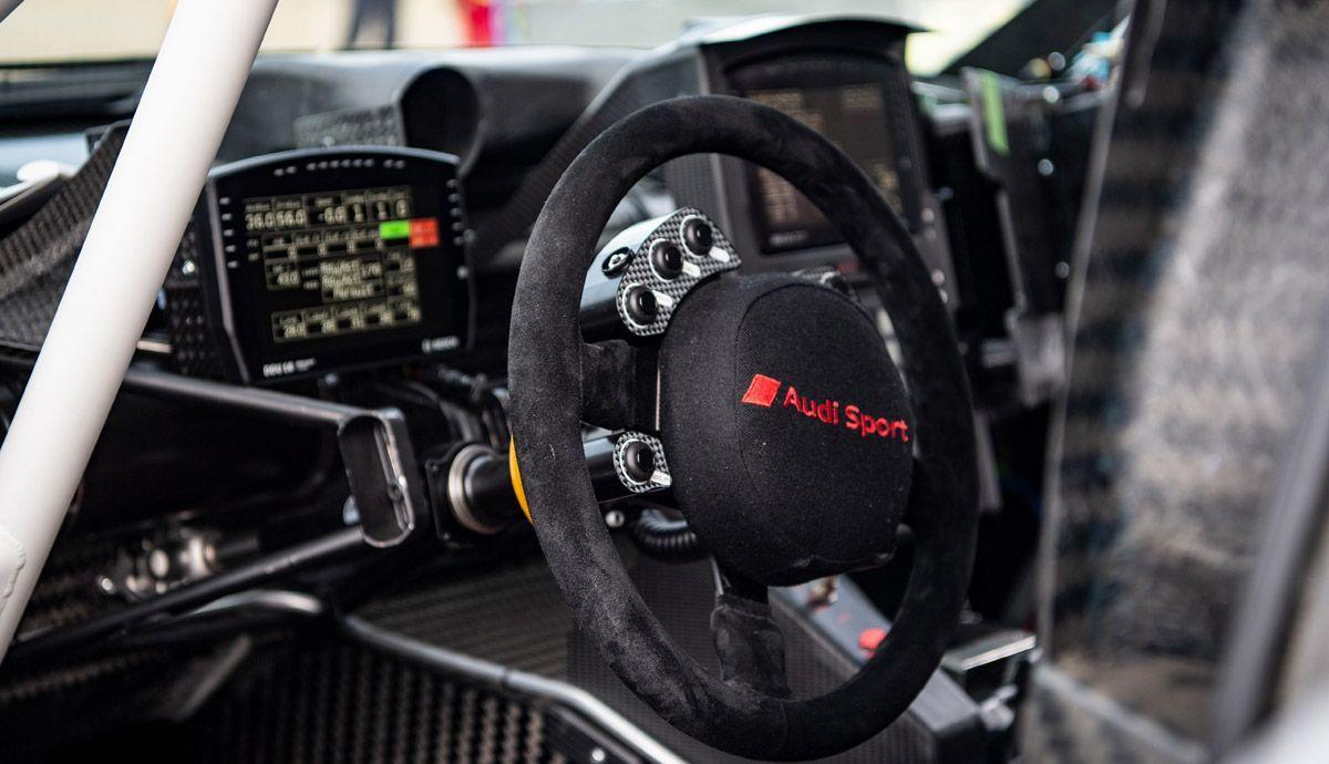 Interior of the Audi RS Q e-tron.