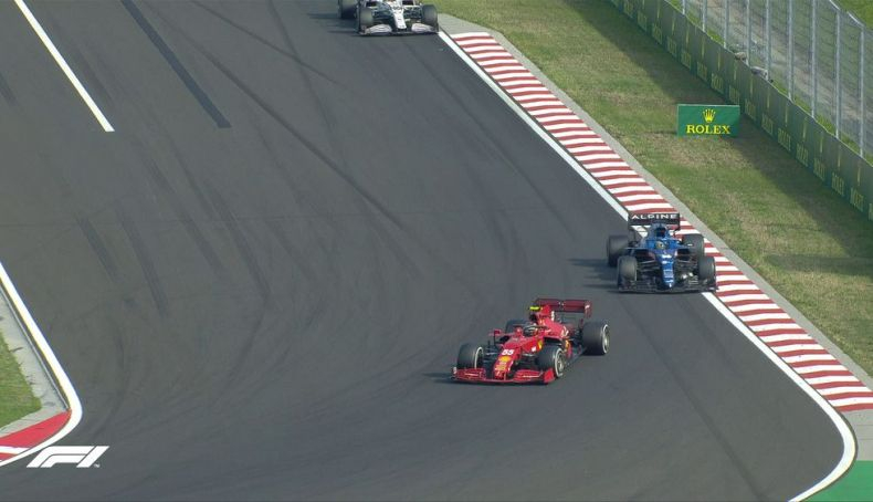 5 Alonso very close to Sainz, he wanted the podium