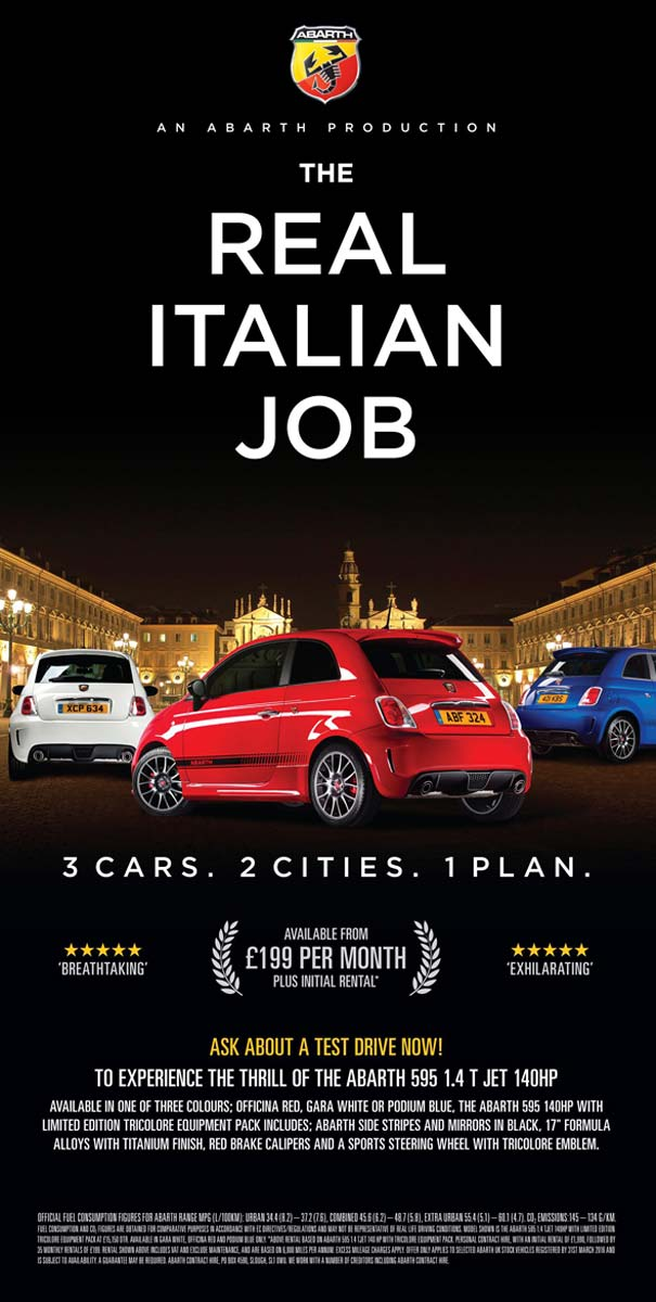 'The Real Italian Job' de Abarth