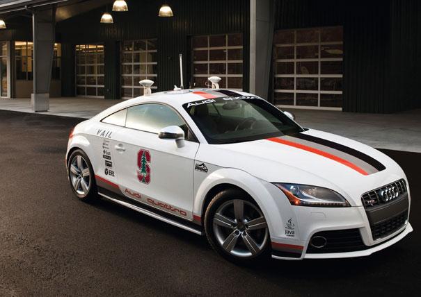 Audi TTS de conducción autónoma de la Universidad de Standford, para participar en Pikes Peak
