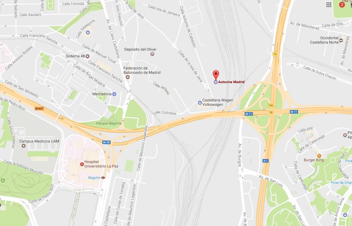 Ubicación Autocine de Madrid