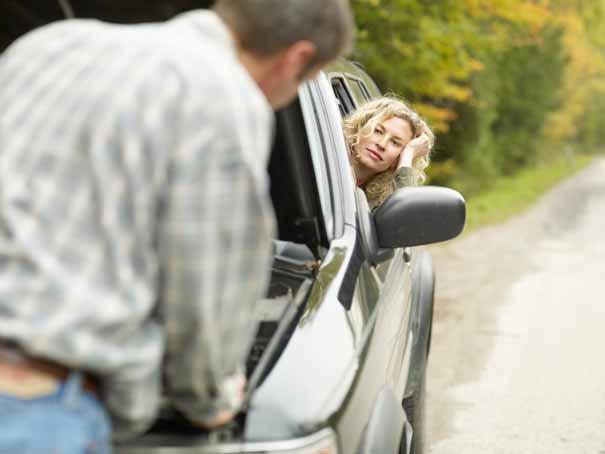 Avería despiste de un conductor