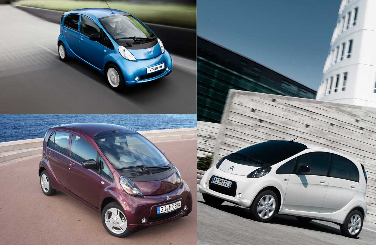Peugeot Ion, Mitsubishi Miev y Citroën C-Zero