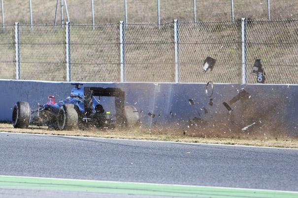 Alonso accidente Montmeló