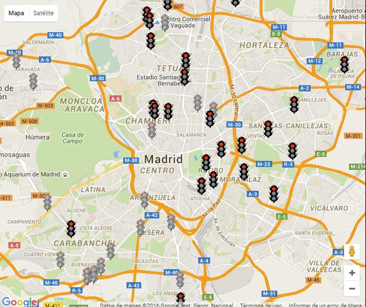 Cámaras foto-rojo en Madrid