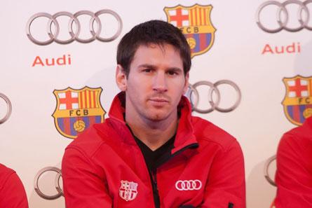 Leo Messi, entrega coches Audi