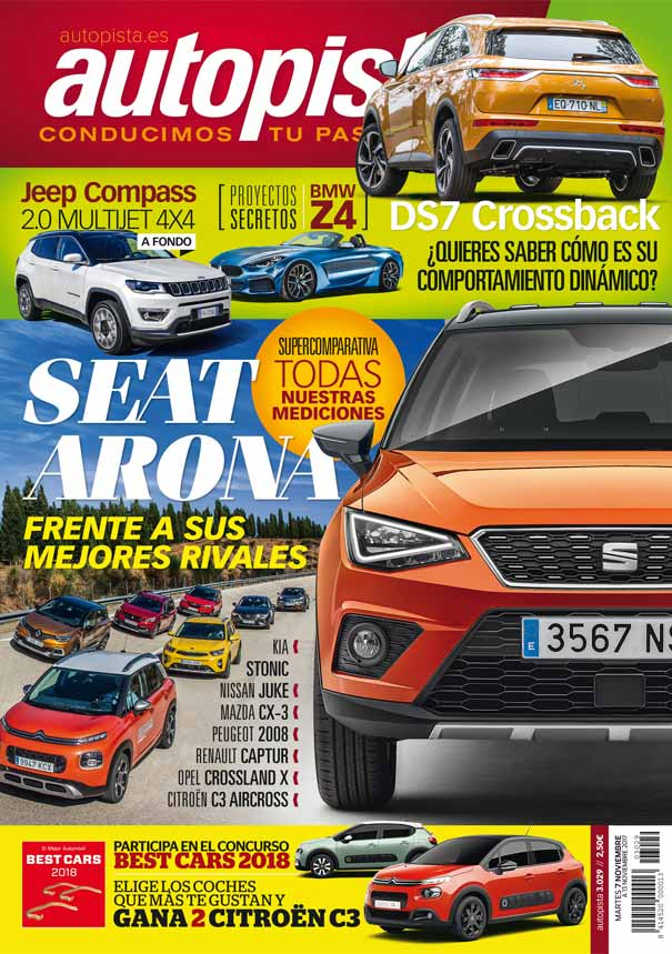 revista autopista 3029 seat arona vs peugeot 2008 renault captur nissan juke noticias. Black Bedroom Furniture Sets. Home Design Ideas