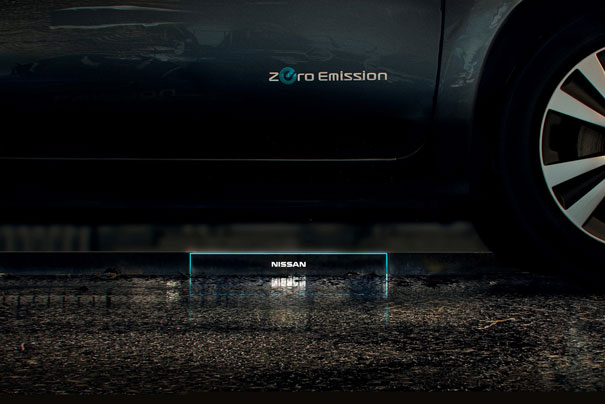 Nissan y su nueva estación de recarga inalámbrica en la acera