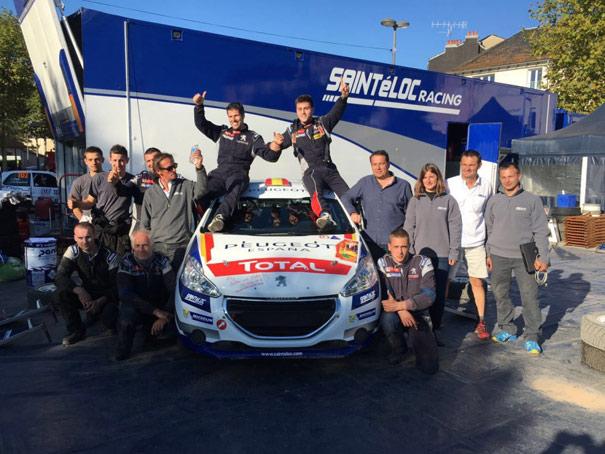 Pepe López, campeón de la Peugeot 208 Rally Cup francesa