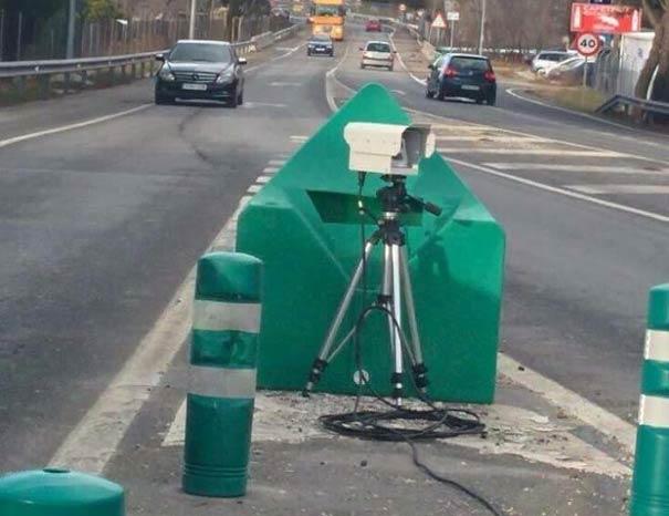 Radar en acceso de autovía
