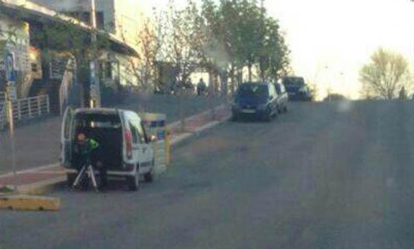 Radar oculto en furgoneta