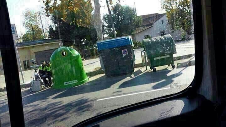 Radar basura en ciudad