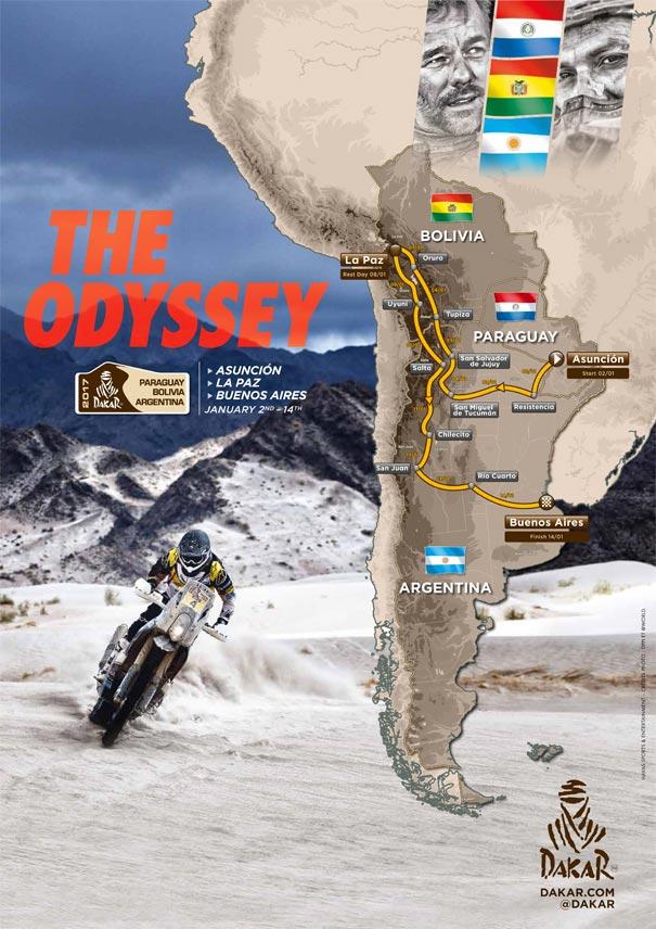 Recorrido Rally Dakar 2017
