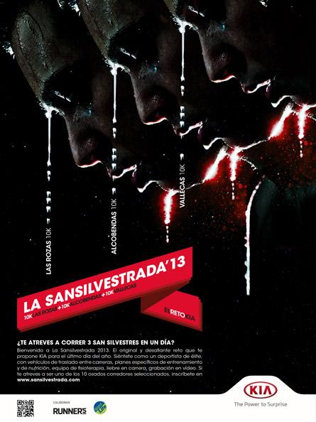 Cartel San Silvestrada Kia 2013