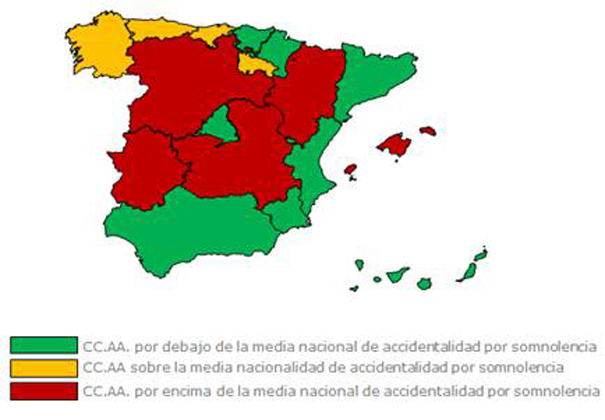 Accidentes por somnolencia en España