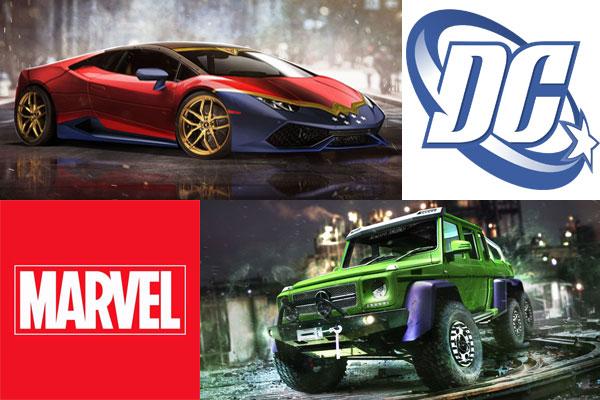 Los superhéroes de Marvel y DC ya tienen su superdeportivo
