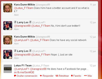 Twitter Lotus desmiente cuenta de Kimi Räikkönen