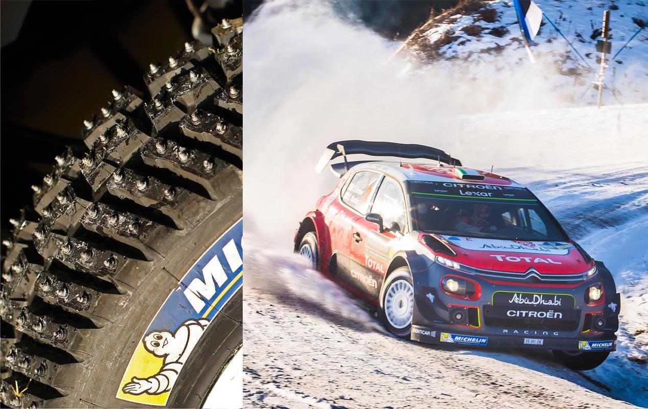 Neumáticos de clavos en el WRC