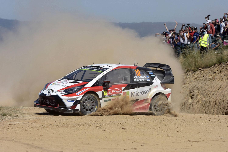 El Toyota Yaris WRC, en el pasado Rally de Portugal