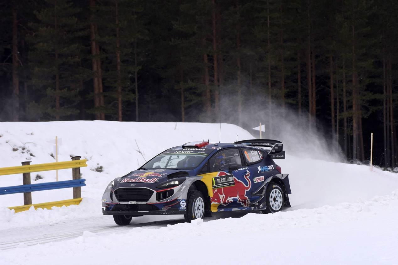 Sébastien Ogier en el Rally de Suecia 2017