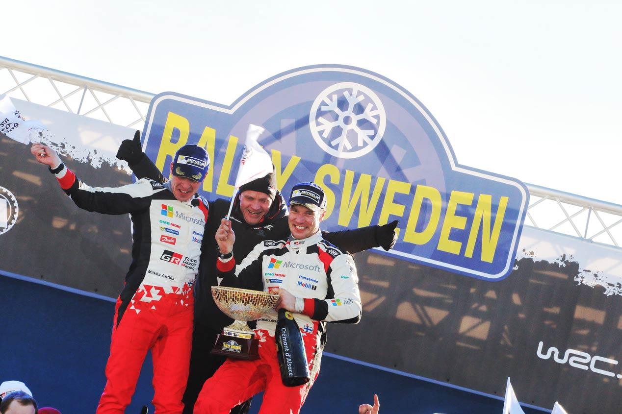 Podium del Rally de Suecia 2017