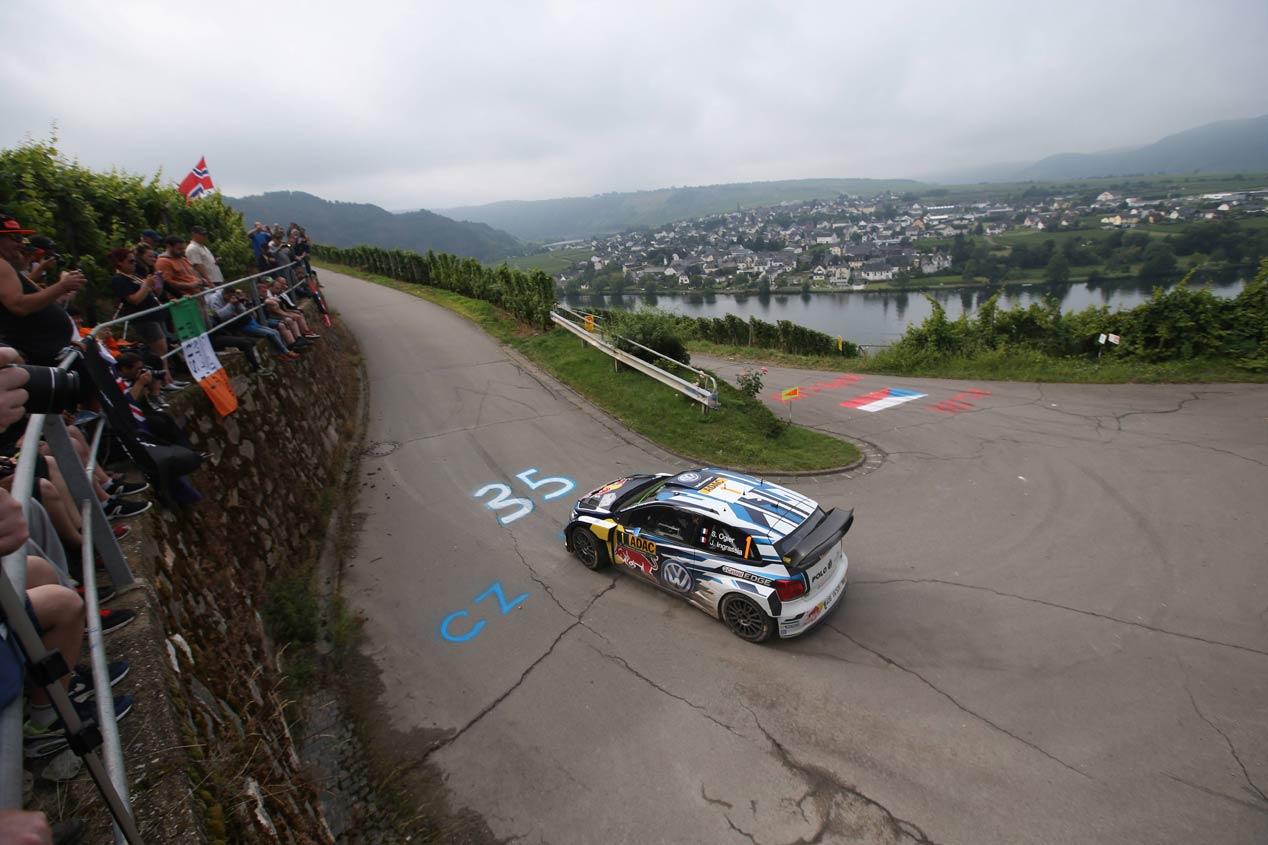 Sébastien Ogier, en el Rallye de Alemania 2016
