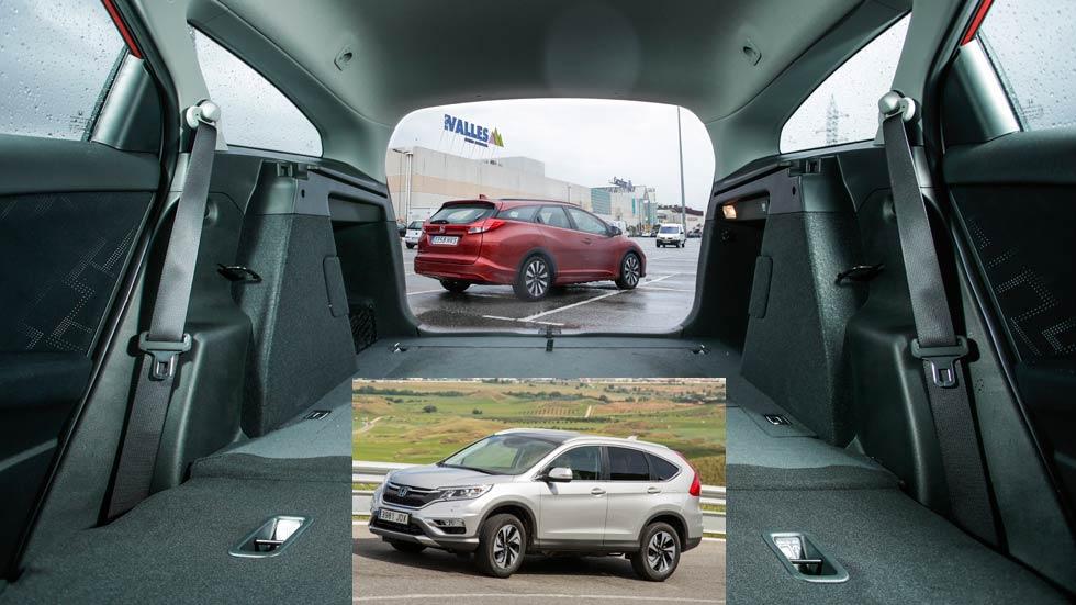 Honda Civic Tourer u Honda CR-V: ¿cuál interesa más?