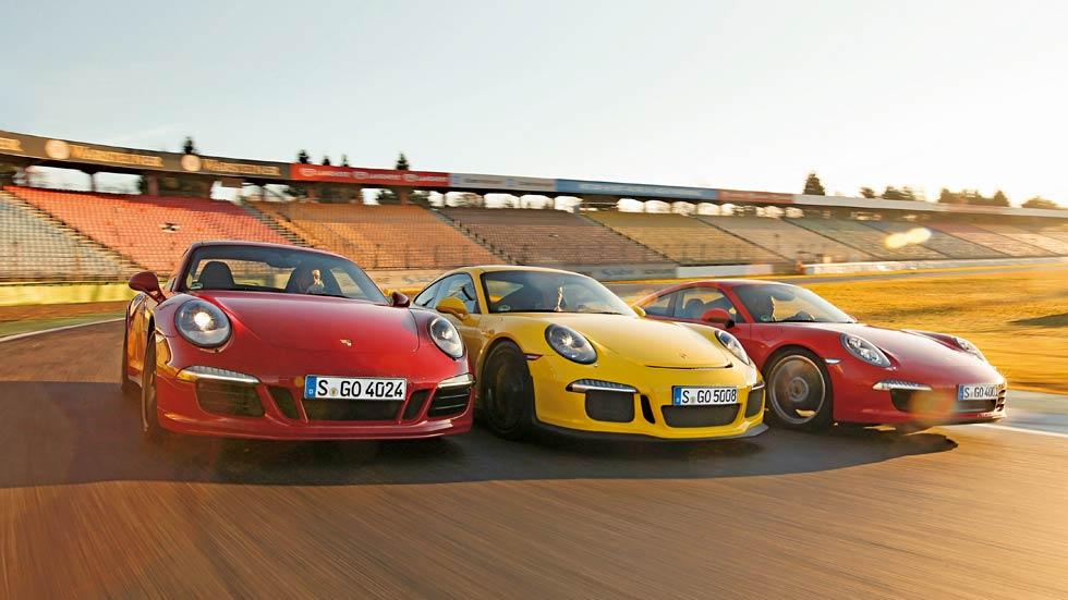 Comparativa: Porsche 911 Carrera S, 911 Carrera GTS y 911 GT3