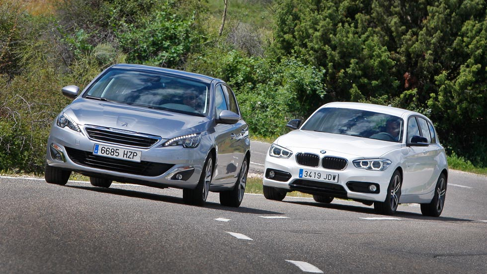 Comparativa: BMW 116i contra Peugeot 308 1.2 Puretech