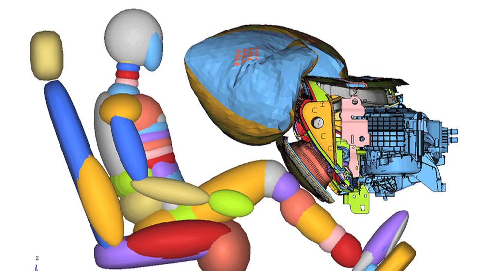El airbag de rodillas del Ford Mustang