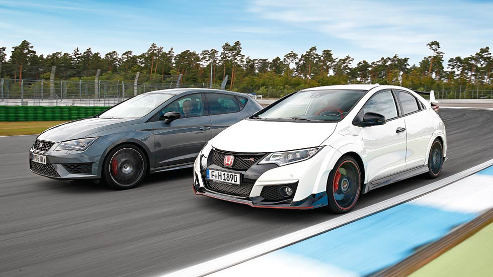 Honda Civic Type R vs Seat León Cupra, impetuosos