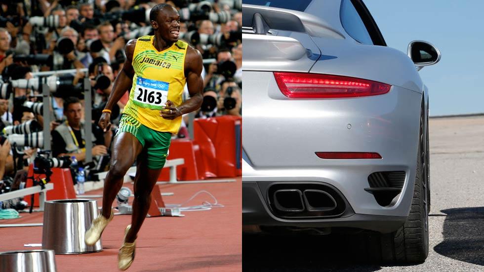 Usain Bolt frente a los deportivos más rápidos del momento