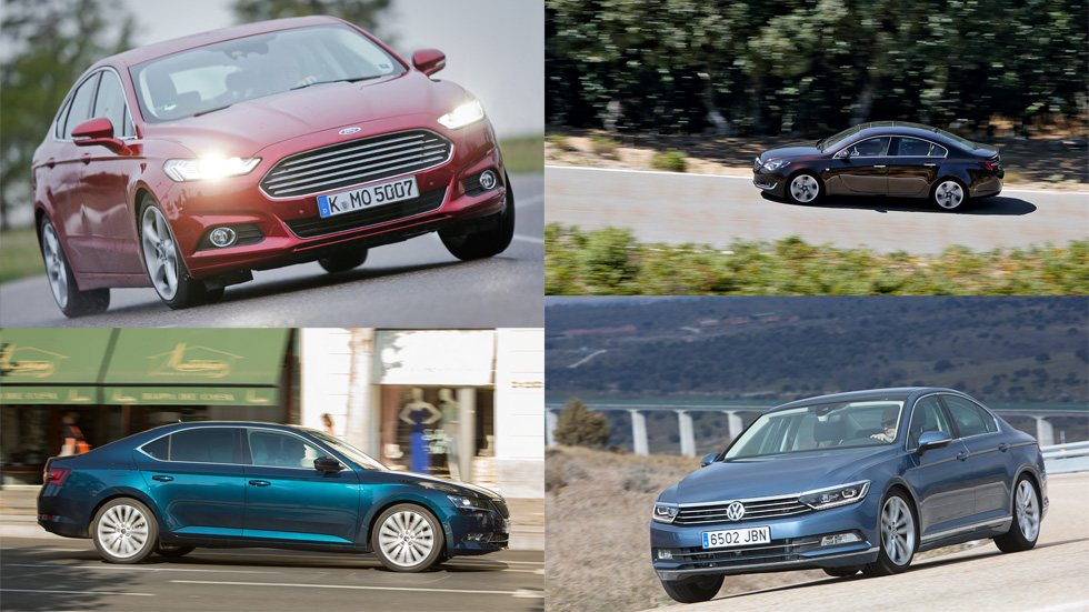 Las berlinas con mayor maletero: Superb, Mondeo, Passat e Insignia