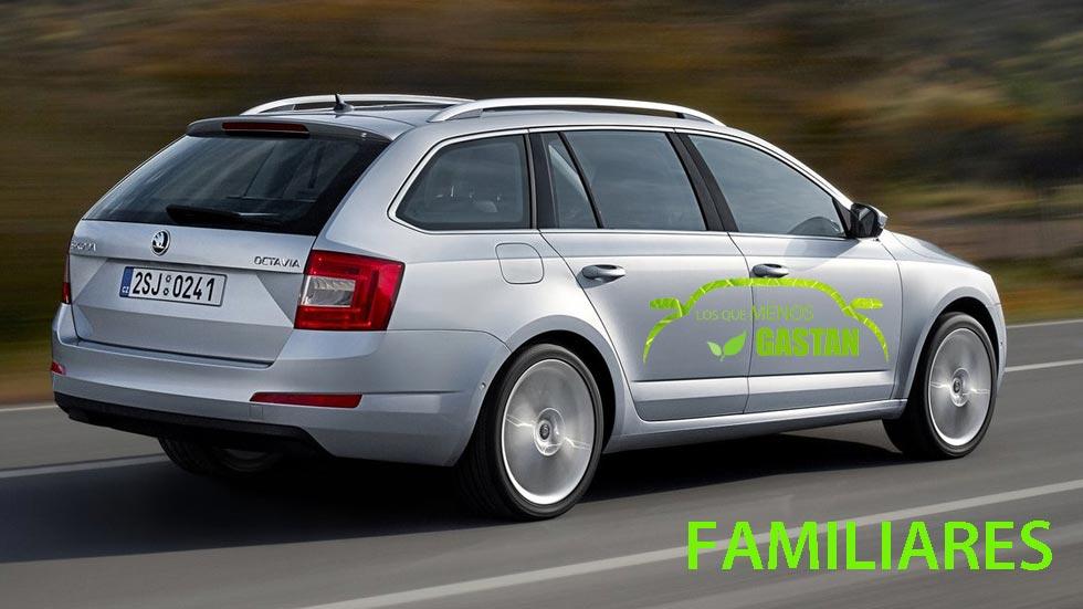 Los coches familiares que menos consumen