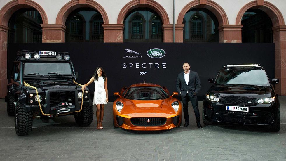 Los coches de Jaguar-Land Rover del film Spectre de James Bond