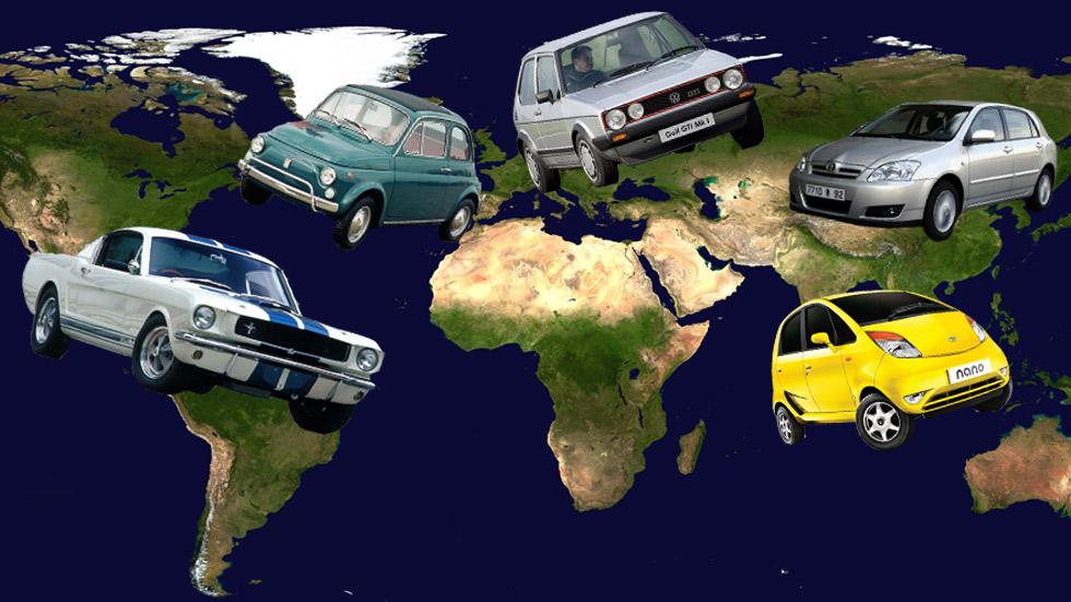 10 coches iconos de sus respectivos países