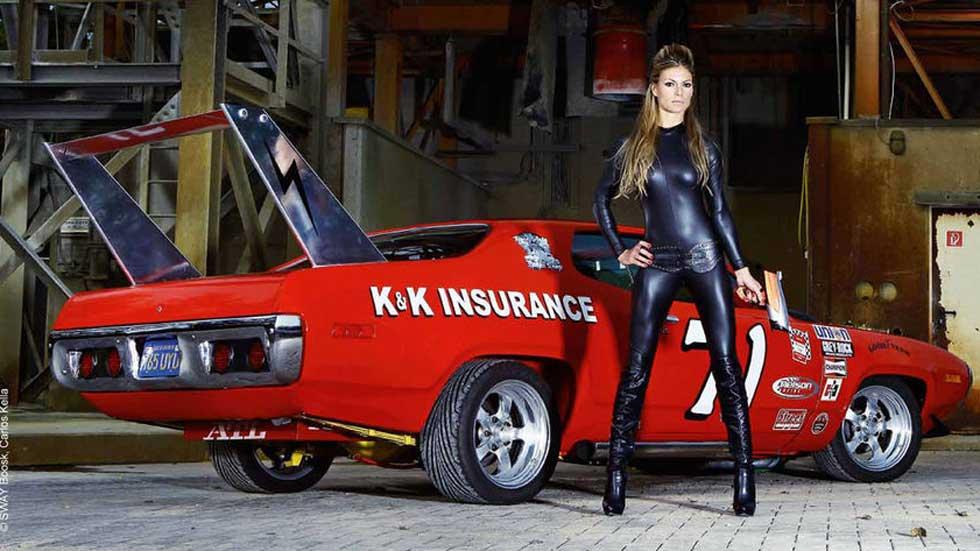 Chicas y coches picantes en el Girls & Legendary US-Cars