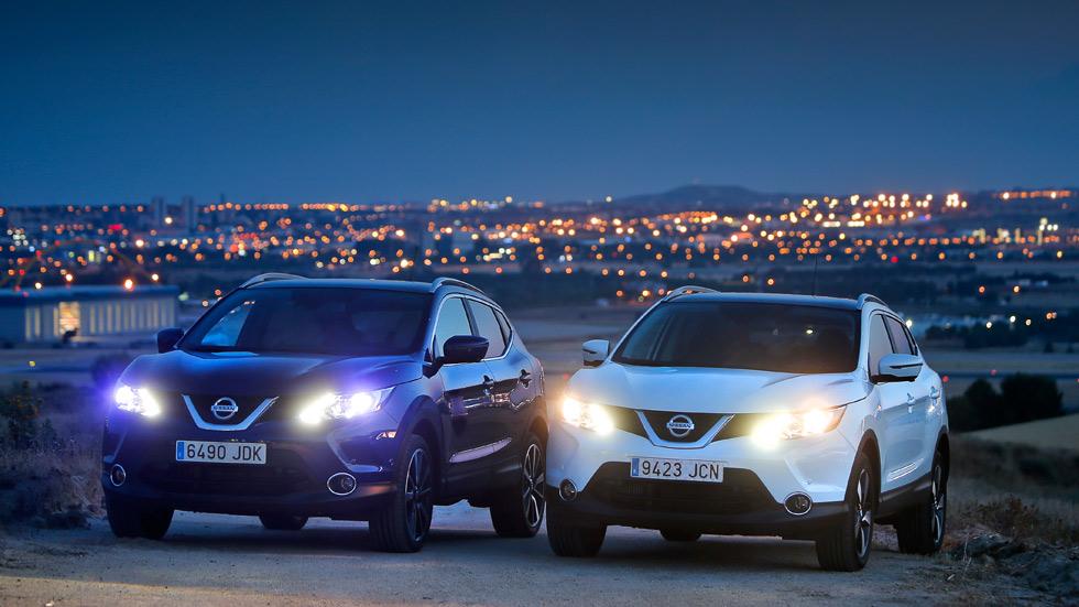 Nissan Qashqai: faros halógenos frente a faros led