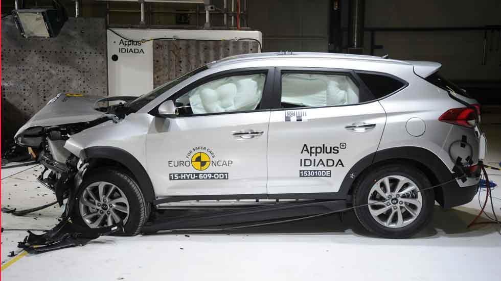 Hyundai Tucson, cinco estrellas EuroNCAP; MX-5 y Karl, cuatro